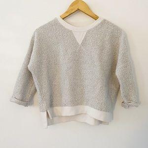Adene Cotton knit blend crop heather sweatshirt